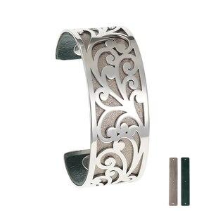 Image 2 - Legenstar Armreifen Für Frauen Edelstahl Armbänder Bijoux Manchette Femme Liebe Leder Manschette Armband Argent Pulseiras