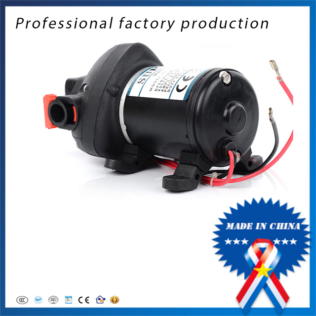 12v 24v dc high pressure mini electric water pump automatic 12v 24v dc high pressure mini electric water pump automatic diaphragm pump car yachts use fl ccuart Gallery