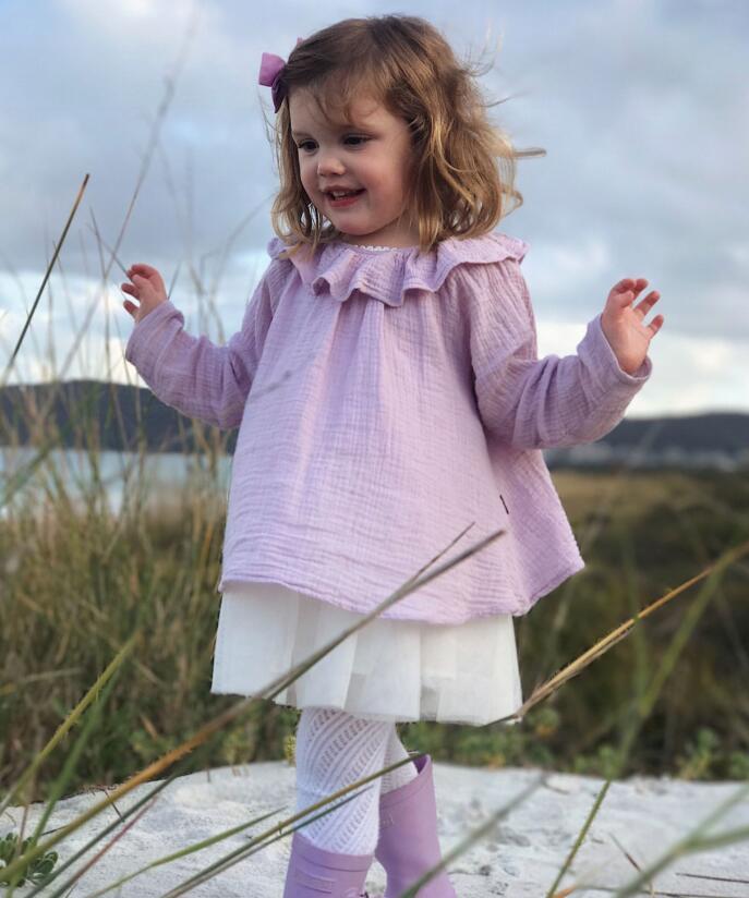 Little Babies Cotton Ruffles Shirts Baby Girl Clothes Princess Jumper Blouse Kids Clothing Autumn Children clothing