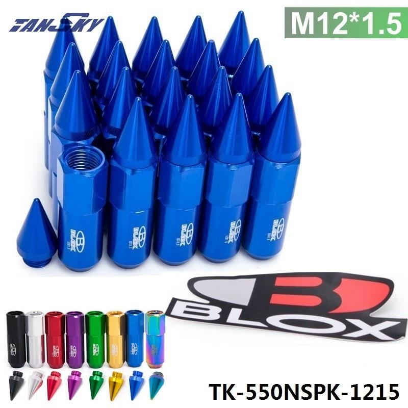 Prix pour Tansky-20 pc blox m12x1.5 haute qualité en aluminium avancée tuner roues jantes lug écrous avec spike tk-550nspk-1215