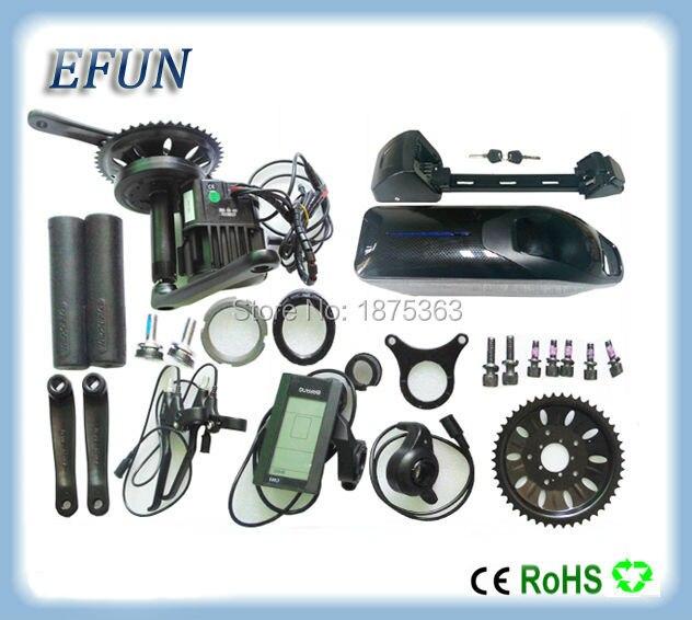 48V 1000W BBS03/BBSHD Bafang mid drive electric motor kits with 48V 14Ah Li-ion ebike battery dolphin down tube fat tire battery