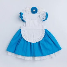 Baby Girl Dress 2019 New Clothes Alice Cinderella White Blue Bow Kids Princess Party For 1-6T