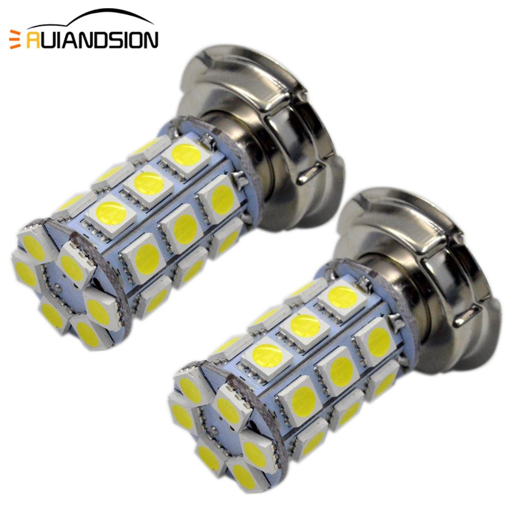 2pcs P26S LED Motorcycle Headlight Blub DC 6V 12V 8W 720LM 6000K moto light 5050 27SMD Scooter Accessoire Motorbike head lamp image