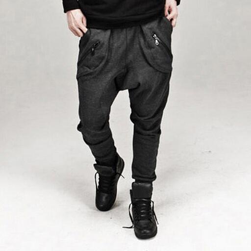2017 nueva moda para hombre joggers pantalones hombres casual harem holgado hip hop pantalones pantalones sólidos 13m0186