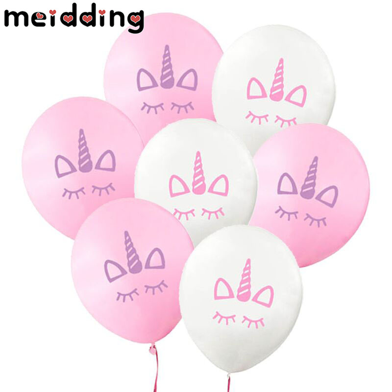MEIDDING 10Pcs Unicorn Theme Party Balloons Birthday Party Latex Ballons Baby Shower Party DIY Decoration Wedding Backdrop Decor