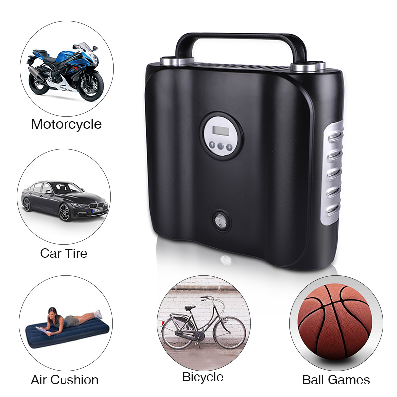 Image 4 - 12V Digital display Electric Car Air Compressor Pump LED Light Digital Inflatable Pump Double Cylinder Digital Car Air Inflator-in Inflatable Pump from Automobiles & Motorcycles