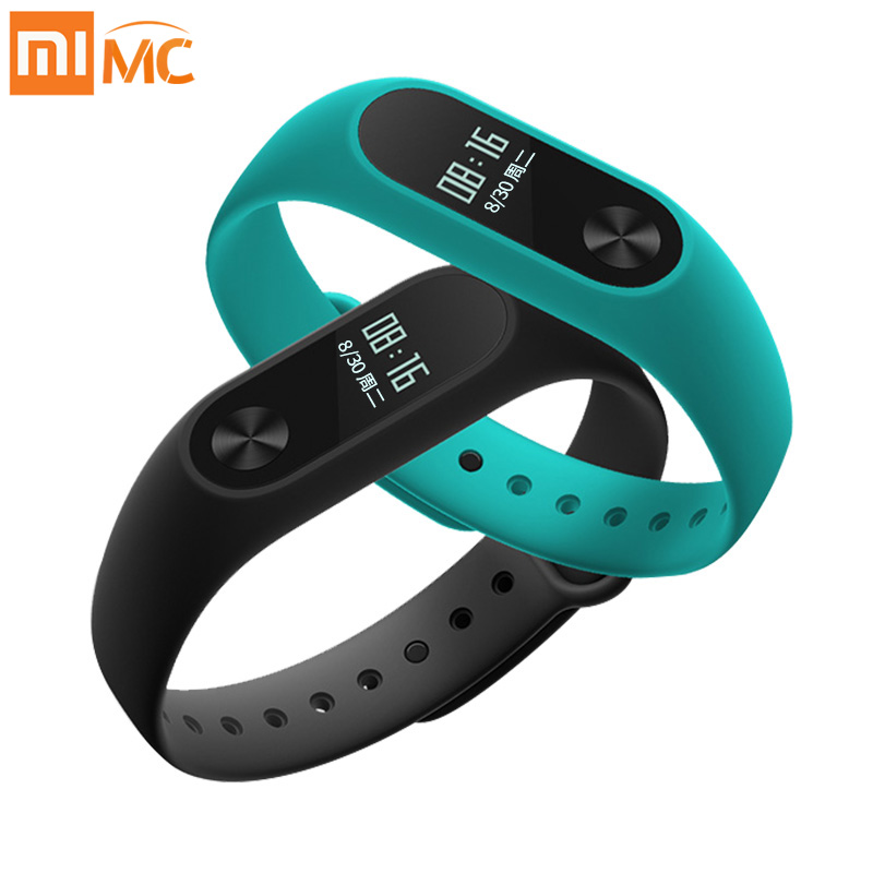 imágenes para Xiaomi Mi Banda 2 Pulsera Smartband touchpad pantalla OLED Pantalla OLED Inteligente de Ritmo Cardíaco de Fitness Miband2 Correa En Stock