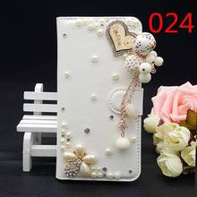"""25Style For Huawei Ascend G8 / G7 Plus / D199 5.5""""inch Bling Luxury Handmade Rhinestone Phone Case PU Leather Cover Wallet Case"""