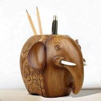 Resin Elephant Pen Holder