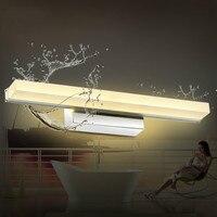 Waterproof antimist lighting led mirror light brief modern mirror glass wall lamp bathroom lamps 7002