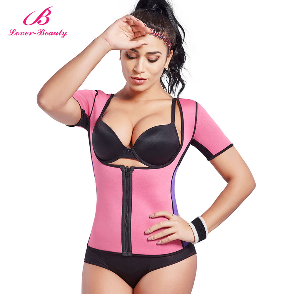 a1df8d53f1 Lover Beauty Neoprene Slimming Hot Vest With Sleeves Exercise Top Sauna  Sweat For Weight Loss Body Shaper Tummy Fat Burner-A