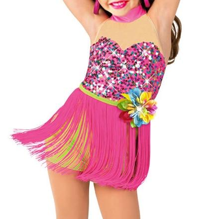 Vaikiškos suknelės mergaičių kostiumams Pavasario moterų vaikiško šokio suknelė Lotynų salės šokių suknelės Vaikai Moterų šokių lotynų kostiumas