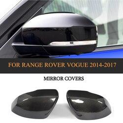 Suche włókna węglowego widok z tyłu osłony lusterek dodać na do Range Rover Vouge SUV 4 drzwi SE 2014-2017 samochodów stylizacji