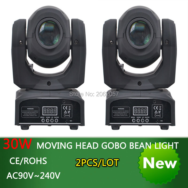 new arrive 30W led spot moving head gobo beam light disco dj  DMX512 rgbw professional stage effect  projector 10w mini led beam moving head light led spot beam dj disco lighting christmas party light rgbw dmx stage light effect chandelier