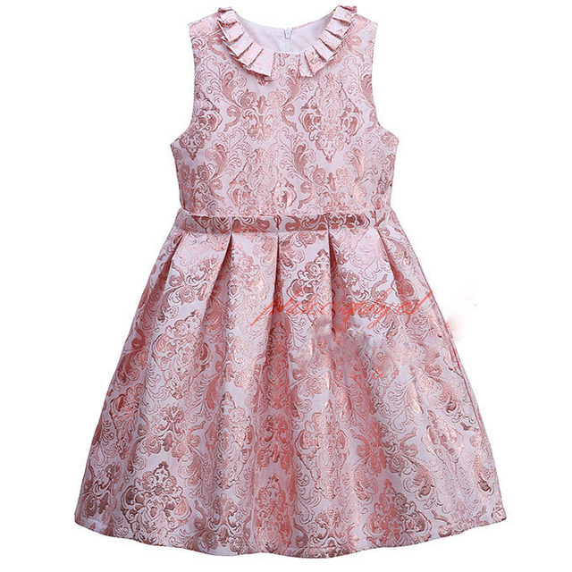 665bbf57b66b Brand Retro Lace Kids Dress Princess Little Girls Floral Dress with Collar  vestidos children dresses for 3-8T