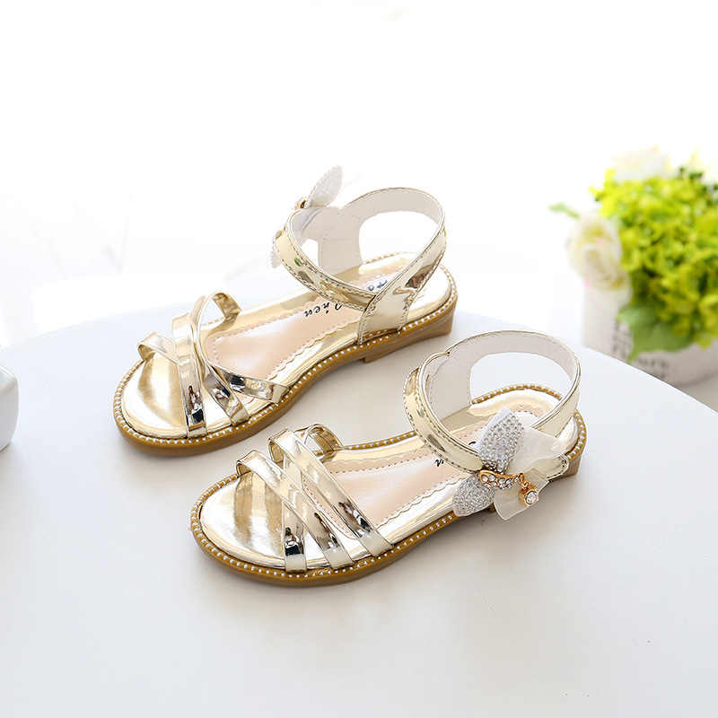 7479bbd7d4e8a Children s shoes summer new 2018 summer girls sandals Korean casual  princess fish shoes fashion bow students tide-in Sandals from Mother   Kids  on ...