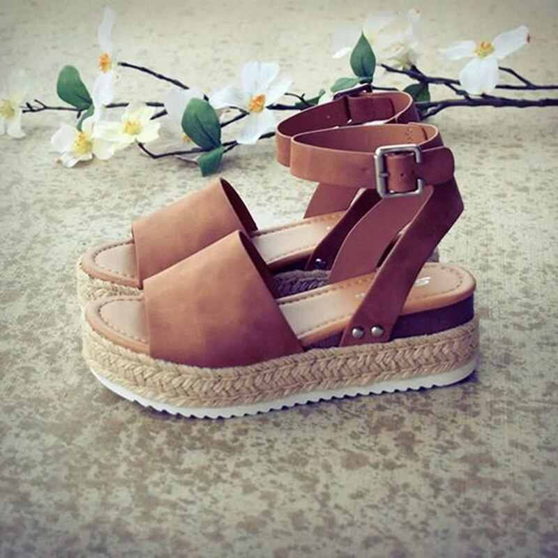 Zapatos de cuña Zapatos de tacón alto de cuña sandalias de