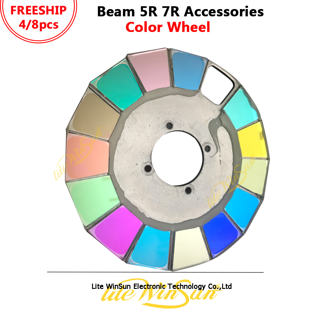 Us 10 0 Litewinsune Color Wheel For Beam 5r R7 280w Moving Head Lighting 14colors Open In Stage Effect From Lights On