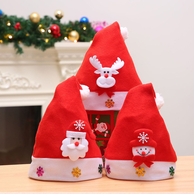 c62720979e1fb New Kids Children Christmas Santa LED Light Up Caps Flashing Costume Party  Festival Red Hat Cap Xmas Hats Decoration