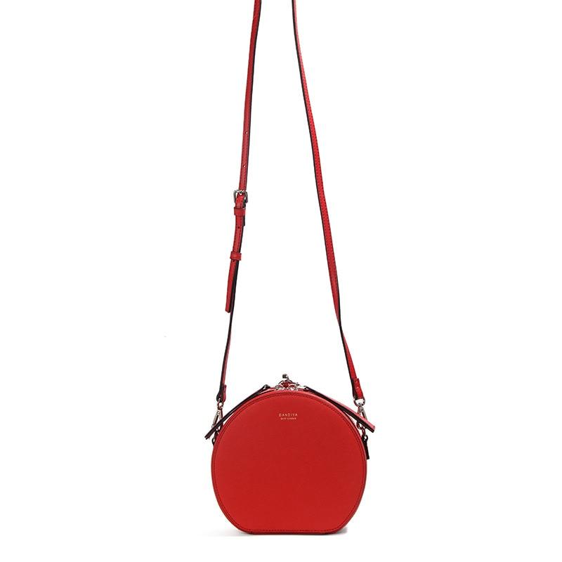 Berühmte Designer Handtaschen Aus Echtem Leder Runde Tasche Frauen Kleine Umhängetaschen für Damen Party Abend Kupplung Bolsa Feminina - 2