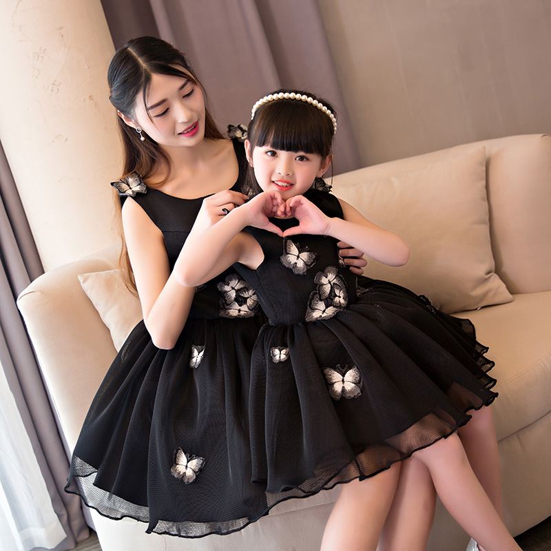 Mother Daughter Dresses Family Matching Wedding Party Clothes Family Look Mother Kids Sets Butterfly Mother and Daughter Clothes mother
