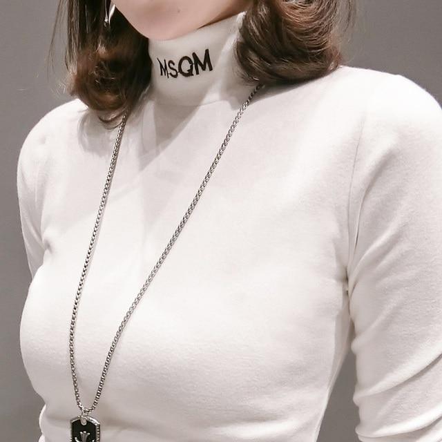 New 2019 Fashion Cool Print Full Female T-shirt White Cotton long sleeve Women Tshirts Summer Casual T Shirt Femme Top
