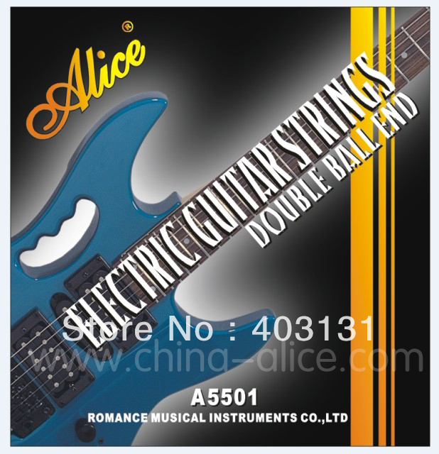 Electric Guitar Strings ALICE 010-046 Double Ball End Nickel Alloy Wound Music Wire for Electric Guitar