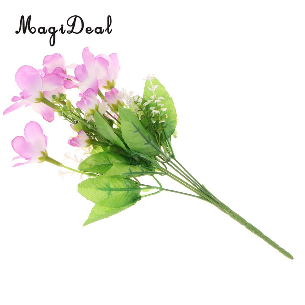 Magideal 1 Bouquet Artificial Mangnolia Silk Flower Wedding Garden
