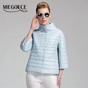 Image 2 - MIEGOFCE 2019 New Spring Short Jacket Women Fashion Coat Padded Cotton Jacket Outwear High Quality Warm Parka Womens Clothing