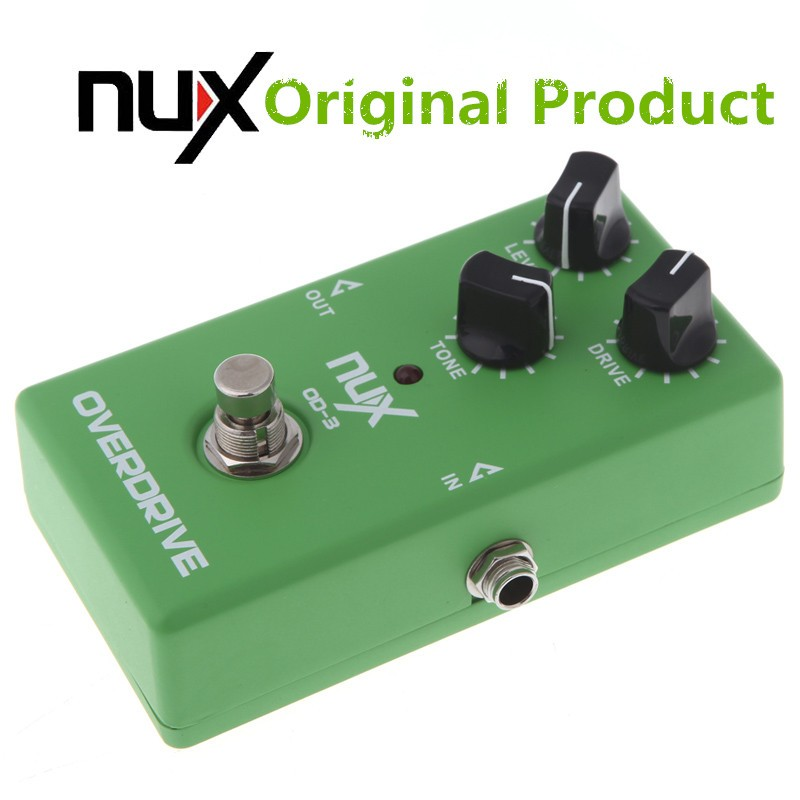 Original Product NUX OD-3 Overdrive Electric Guitar Effect Pedal Ture Bypass Green High Quality Guitar Effect Pedal overdrive guitar effect pedal true bypass with 1590b green case electric guitar stompbox pedals od1 kits