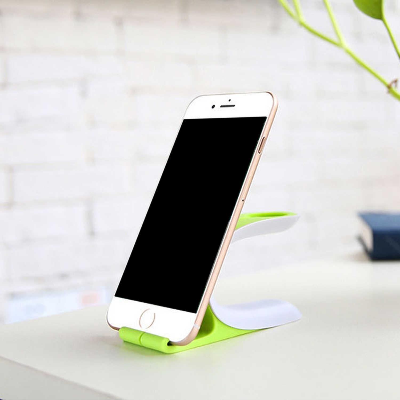 Besegad Ponsel Pengisian Berdiri Charger Dock Station Bracket Pemegang untuk iPhone X 8 7 6 6S Plus Apple watch Saya Jam Tangan Aksesori