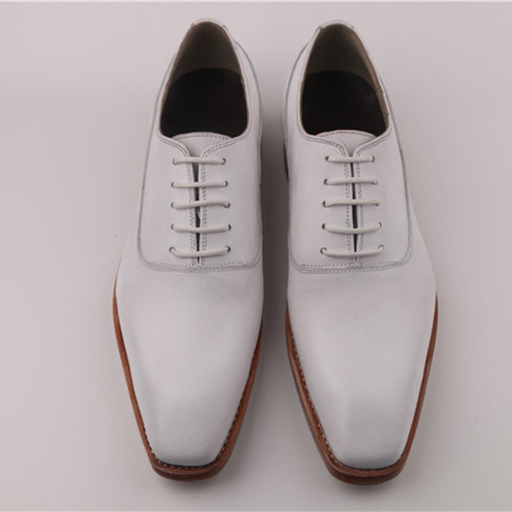 Kleid Herren Weiß Italienische Bräutigam Rahmengenäht Oxfords Hochzeit Anzug Goodyear Sipriks 46 Schuhe Weiß Leder Social Handarbeit Karree Custom vY1q5n56