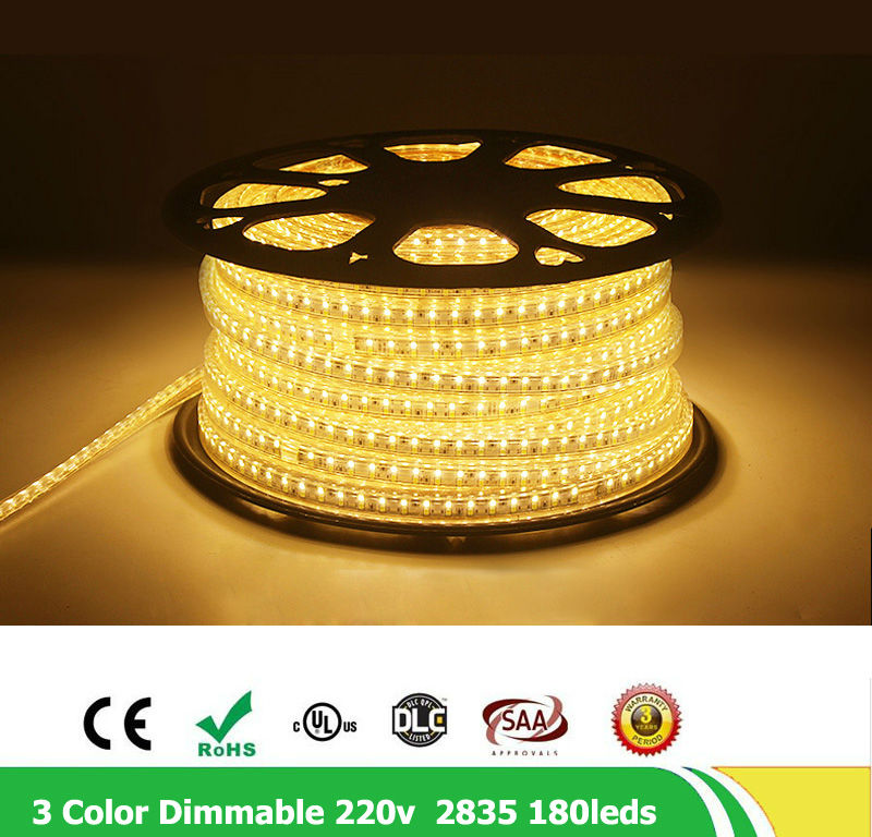 20m / lote 2835 SMD Fila doble 180leds / m 220V - 240V Regulable - Iluminación LED - foto 2