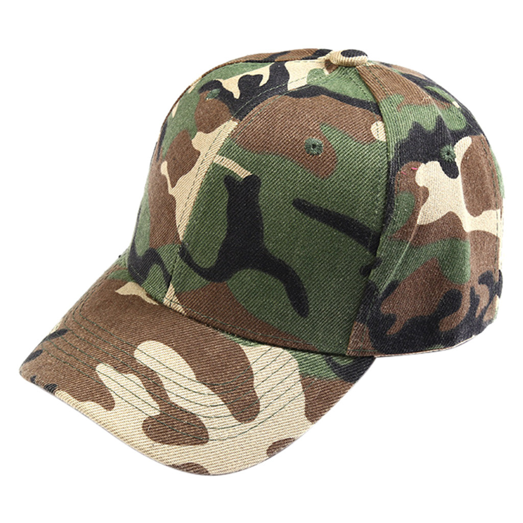 Duck Tongue Sports Cap Unisex Outdoor Travel Green Camouflage Sunscreen Sunshade Hat Z118