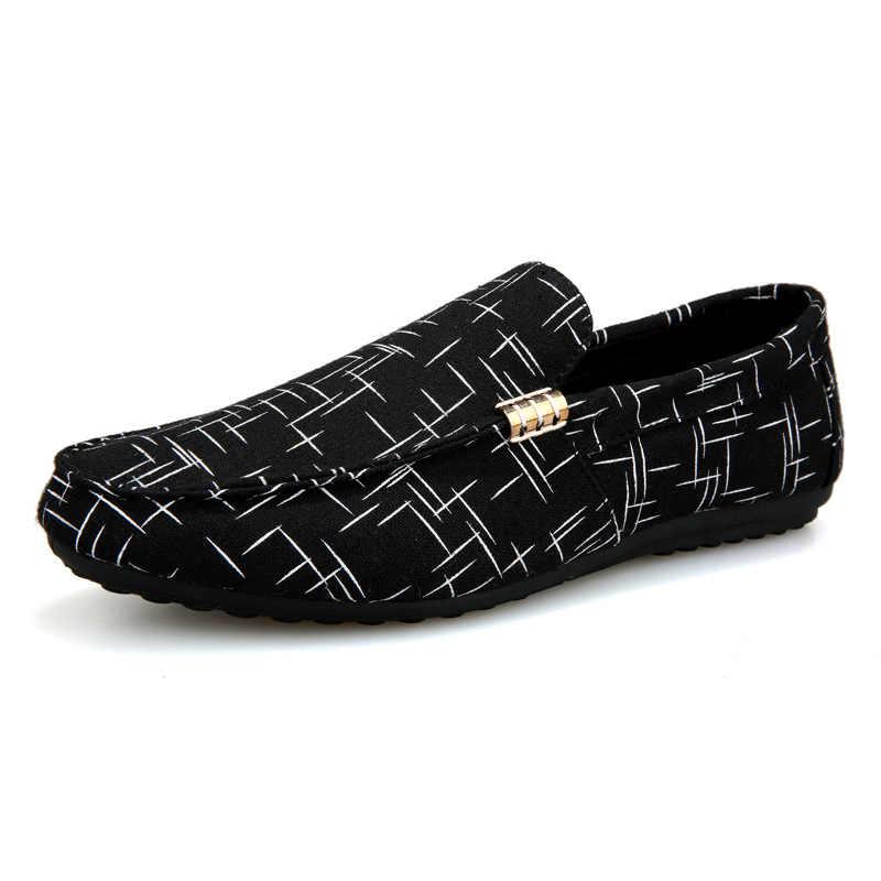 Mannen Loafers Mannen Casual Schoenen 2019 Lente Zomer Nieuwe Licht Canvas Jeugd Schoenen Mannen Ademend Mode Platte Schoenen