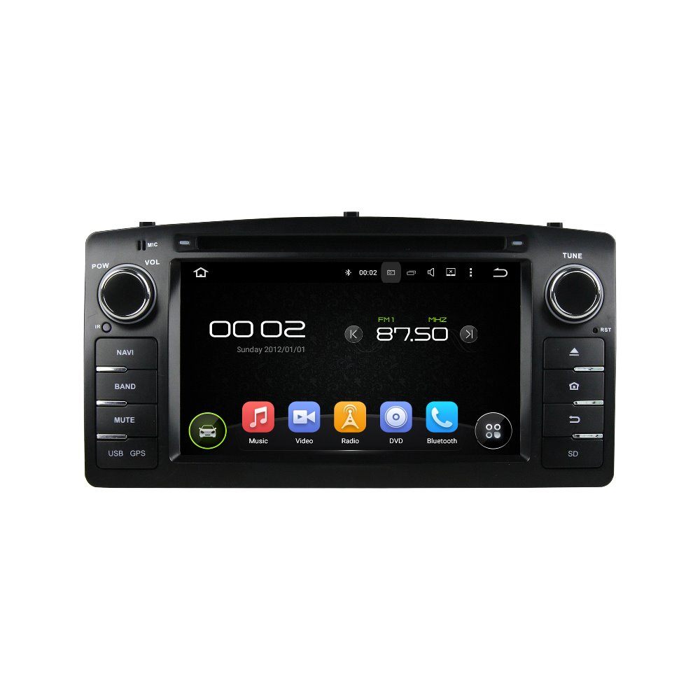 otojeta car dvd player for toyota COROLLA E120 2004 octa core android 6.0 2GB RAM 32GB ROM stereo BT/radio/dvr/obd2/tpms/camera
