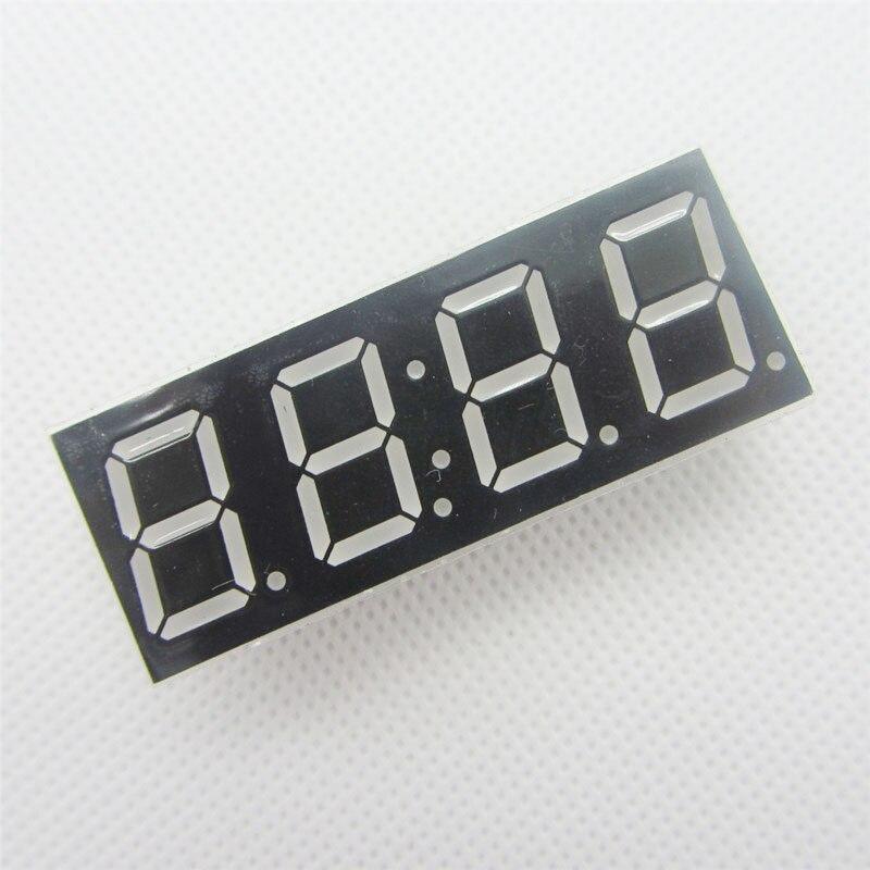 1 шт. общий катод 4bit 4 Бит Цифровой Tube 0.56 дюймов красный светодиодный с часами Цифра 7 сегмента (часы)