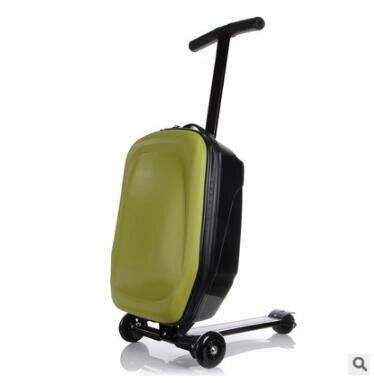 스케이트 보드 롤링 수하물 20 인치 여행 수하물 케이스 스쿠터 케이스 캐빈 수하물 가방 마이크로 스쿠터 가방 바퀴에-에서여행 가방부터 수화물 & 가방 의  그룹 3