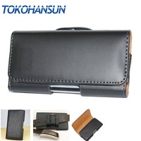 For Highscreen Easy XL Pro Phone Bag Mobile Cover Belt Clip Case Black Color PU Leather