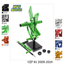 For Yamaha YZF R1 2009-2014 Motorcycle Foot Pegs CNC Adjustable Rearset Foot Rests 2010 2011 2012 2013 Footrests Footpegs Pedal cnc racing rearset adjustable rear sets foot pegs fit for yamaha yzf r15 2012 2013 2014 2015
