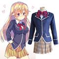 Anime Shokugeki no Soma Nakiri erina Cosplay Costume School Uniform (Blazer + Skirt + Tie)