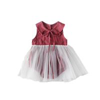 Newborn Toddler Baby Girl Bodysuits Summer Cotton Sleeveless Jumpsuit Funny 1st Birthday Tulle Tutu Body Baby Clothing