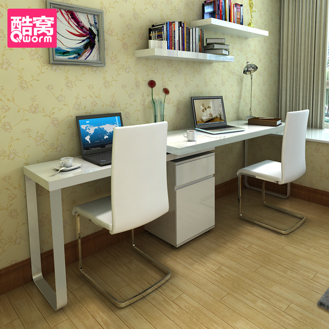 двухместный простой рабочий стол компьютерный стол ноутбук угловой