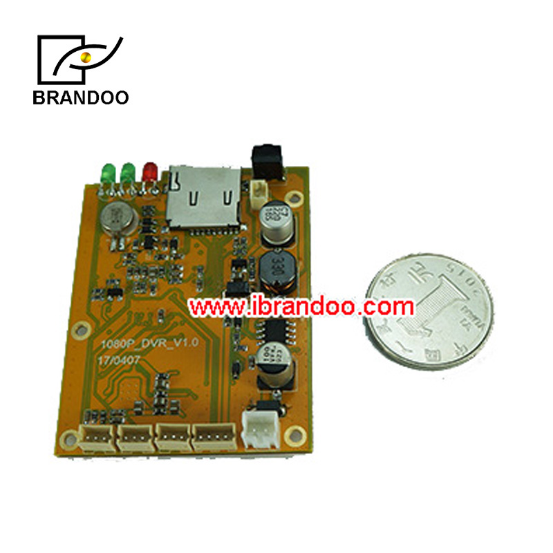 Newest 1CH AHD DVR PCB Board 1080P Real time 1CH mini dvr module support 128GB sd Card Security Digital Video Recorder
