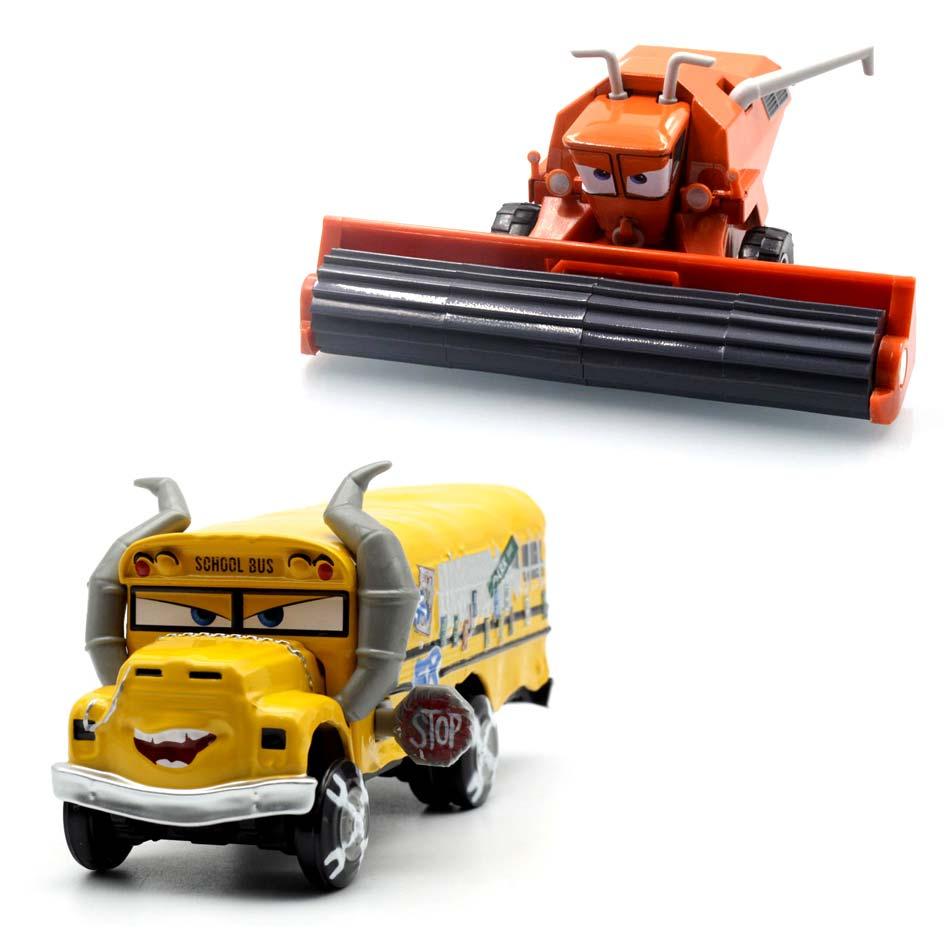 Disney Pixar coches 3 señorita Fritter Cal Jackson tormenta Dinoco Cruz Ramírez 1:55 Diecast Metal de juguetes modelo de coche regalo de cumpleaños para los niños