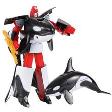 Transformacja życie morskie zabawkowe roboty zabójca wieloryb delfin żarłacz biały rekin deformacja plastikowe chłopcy figurka zabawki dla dzieci tanie tanio Sevrwell Model Wyroby gotowe 14cm As Picture show 1 60 Pierwsze wydanie 8 lat 6 lat 3 lat Trasformation Sea Life Robot