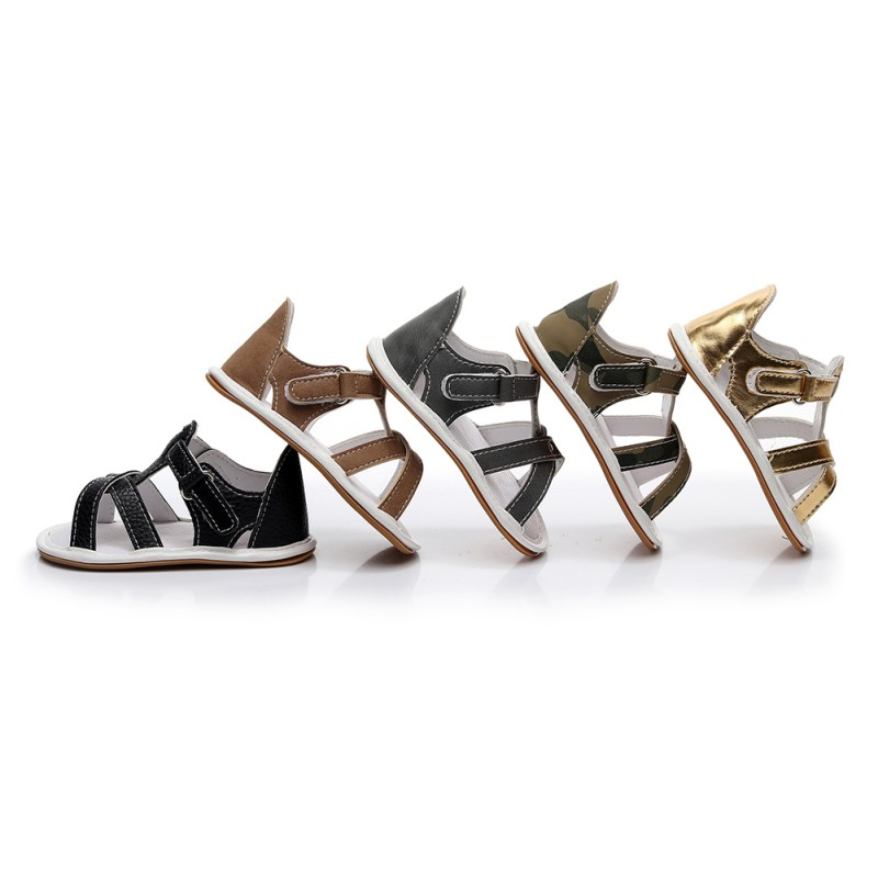 2018 Summer Baby Sandals PU Multi Style Solid Color Boys Girls Casual First Walkers Fashion Simple Beach Shoes Q1