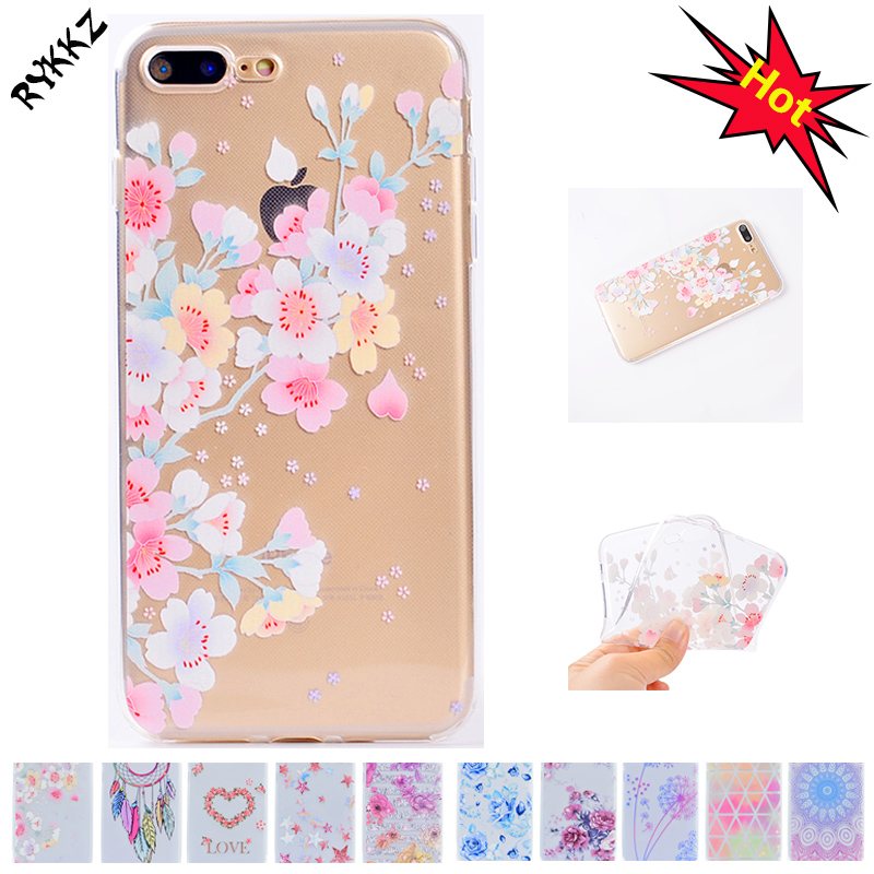 2018 New soft cases For apple iphone 7 Plus Transparent TPU case for iphone 7plus iphone7plus silicagel phone bag