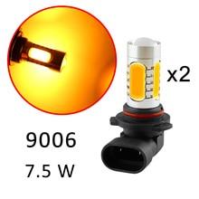 2X для автомобиля противотуманная фара для грузовика аксессуар для противотуманных фар Светодиодный HB4 9006 9012 9006HP 9006XS вождения LRD лампа Стиль желтый Цвет Запчасти отделка