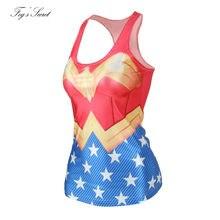 Camiseta tirantes de mujer con el diseño del traje de Wonder Woman